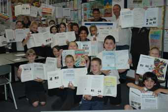 Dr David Currie with year 3 students from Largs Bay Primary
