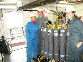 Oceanography team onboard the Southern Surveyor