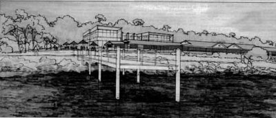 Architect's impression of the Lincoln Marine Science Cetre
