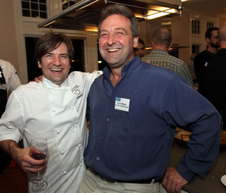 Chef Cole Thomas with Steve Mawer of Southern Barramundi