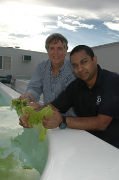 Steven Clarke and Dr Sasi Nayar from the South Australian Research and Development Institute